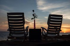 Watching the sunset at Casa Alistaire