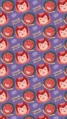 Fondo de pantalla de Wanda Vision ilustrado por Aaron Jandette / Marvel Wallpaper Marvel Wallpaper, Disney Wallpaper, Wall Patterns, Prints, Backgrounds, Walls, Illustrations, Ideas, Illustration