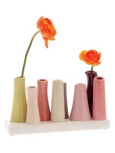 8-Tube Vase from The Preppy Bedroom on Gilt