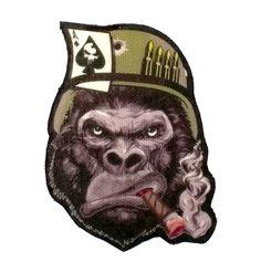 Gorilla Warfare Tough Ace Smoking Cigar Printed Tactical Morale Patch | eBay