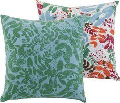 Zierkissen in Grün und Blau - ein Hingucker im floralen Design