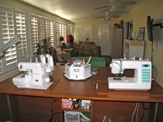 Koala Dual Mate Plus sewing furniture:  Here's my completed sewing room. by sharrn04, via Flickr
