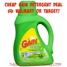 There is a new $1.00/1 Gain Laundry Detergent coupon! Use the coupon to grab some cheap detergent at Target or Wamart!  Click the link below to get all of the details ► http://www.thecouponingcouple.com/11-gain-coupon-cheap-detergent-walmart-target/  #Coupons #Couponing #CouponCommunity  Visit us at http://www.thecouponingcouple.com for more great posts!