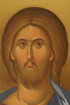 face of Jesus Images Of Christ, Religious Images, Religious Icons, Religious Art, Byzantine Art, Byzantine Icons, Orthodox Catholic, Christ Pantocrator, Greek Mythology Art
