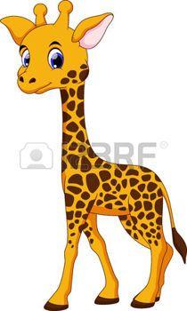 Linda jirafa de dibujos animados photo