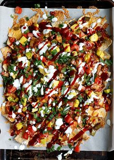 BBQ Chicken Nachos..perfect for game days!