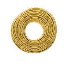 Cloth Covered Wire - Brass | Color Cord Company