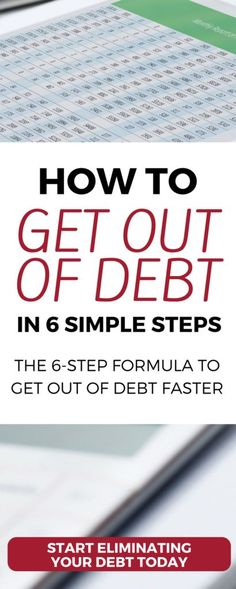 How you can get out of debt in 6 SIMPLE steps debt free | get rid of debt | get out of debt | eliminate debt | how to create a budget | debt snowball | dave ramsey #budget #debt #personalfinance #money