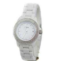 df53e4110e9 Fossil Retro Traveler Three Hand Resin Watch - White Am4466  Watches   Amazon.com