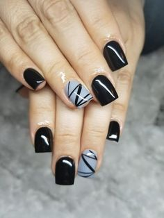 Classy, short, black nails. This is the perfect look!