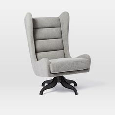 Cobb Swivel Wing Chair - Gray | west elm