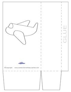 Large Printable Airplane Favorbag - Coolest Free Printables