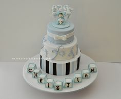 BOY Christening Cake Cookie by My Sweethearts Bakery l Lilia, via Flickr
