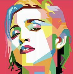 Madonna in Wedha's pop art portrait Art And Illustration, Illustrations Posters, Voka Art, Cartoon Makeup, Sketch Manga, Madonna Art, Pop Art Wallpaper, Polygon Art, Modern Pop Art