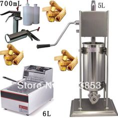 560.00$ Watch now - http://alii9j.worldwells.pw/go.php?t=1400663624 - 3 in 1 5L Spainish Churros Machine + 6L Deep Fryer + 700ml Churros Filling Machine 560.00$