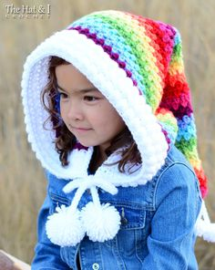 CROCHET PATTERN Over the Rainbow Hood a crochet by TheHatandI