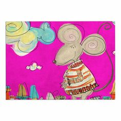 KESS InHouse Carina Povarchik 'Urban Mouse-Magenta' Pink Yellow Dog Place Mat, x * Check out the image by visiting the link. (This is an affiliate link and I receive a commission for the sales) Dog Food Container, Pink Yellow, Magenta, Kitchen Tools And Gadgets, Dog Food Recipes, Kids Rugs, Urban, Blanket, Awesome
