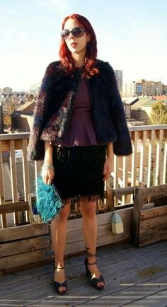 @hm faux fur jacket + faux leather top and @joefresh fringe skirt!: http://www.thepurplescarf.ca/2015/01/fashion-my-style-faux-fur-feathers-fringe.html #fashion #mystyle #thepurplescarf #melanieps #toronto