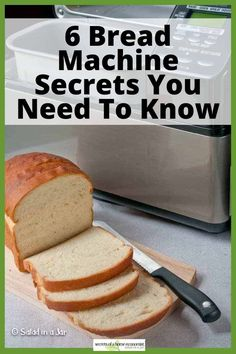 You may not find these tips in the manual, but they are important to know about if you hope to make successful bread with a bread machine. Easy Bread Machine Recipes, Best Bread Machine, Bread Maker Recipes, Yeast Bread Recipes, No Salt Bread Machine Recipe, Soft Bread Recipe, Cooking Bread, Bread Baking, Breadman Bread Machine
