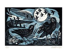 'Starlings on the Shore' by Mark Hearld