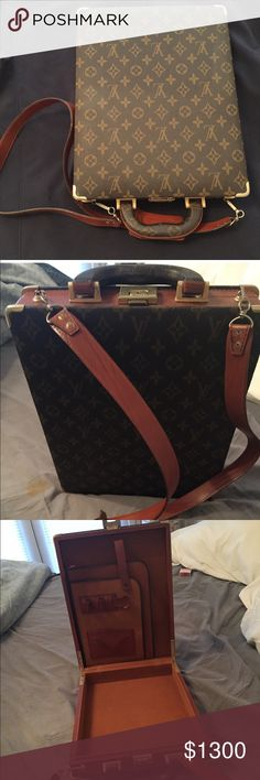 "Louis Vuitton Briefcase ""New"" Never Used Louis Vuitton Vintage Briefcase New Never used! Bags Shoulder Bags"