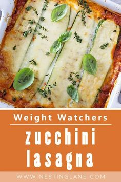 Weight Watchers Zucchini Lasagna Recipe with ground beef, onion, tomatoes, tomato paste, garlic, oregano, basil, thyme, eggs, low fat ricotta cheese, and Mozzarella cheese.. This healthier version of the classic Italian dinner only has 261.1 calories, 16.1 carbs, and 24.5 grams of protein. 10 minute prep time. MyWW Points: 8 Green Plan, 8 Smart Points. Weight Watchers Zucchini Lasagna Recipe, Healthy Zucchini Lasagna, Weight Watchers Lasagna, Weight Watcher Dinners, Grilled Zucchini, Light Recipes, Clean Recipes, Healthy Dinner Recipes, Ww Recipes