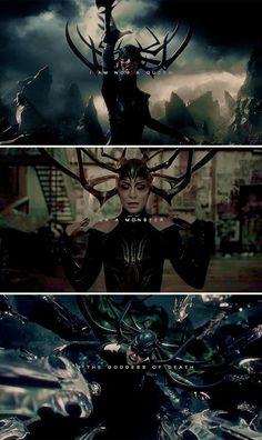 I'm not a queen or a monster, I'm the goddess of death - Hela - Thor:Ragnarok - Marvel Marvel Avengers, Marvel Women, Marvel Fan, Marvel Heroes, Marvel Villains, Marvel Movies, Marvel Cinematic Universe, Marvel Universe, Loki Thor