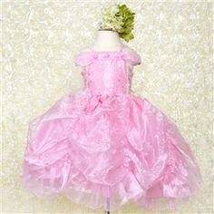 Flower Dress Mesh Layered Princess Wedding Pink Party Special Occasion