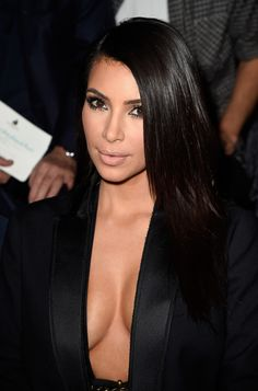 Kim Kardashian, Hair and Makeup! Eyes look amazing!  The outfit it's a bit much. I love her style, lately it's too much, lost the Classy look!