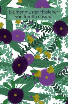 Blumenmuster *Helene*, florale Illustration von loretta cosima Illustration, Plant Leaves, Plants, Floral Patterns, Nice Asses, Illustrations, Plant, Planets