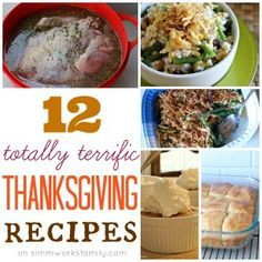 12 Totally Terrific Thanksgiving Recipes
