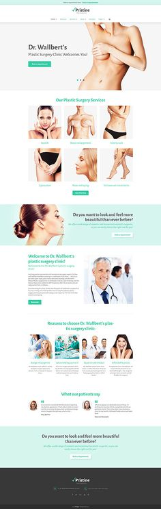 Plastic Surgery Clinic #Wordpress #template. #themes #business #responsive #Wordpressthemes