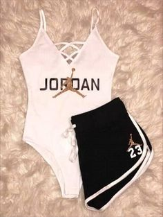 summer outfits with jordans 50 best outfits Lazy Outfits jordans outfits Summer Cute Lazy Outfits, Cute Swag Outfits, Sporty Outfits, Stylish Outfits, Summer Outfits, Teen Fashion Outfits, Outfits For Teens, Outfits With Jordans, Fashion Clothes