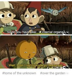 over the garden wall wirt greg tome of the unknown