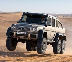 Mercedes-Benz G63 AMG 6×6  A Mercedes twin-turbo G-Wagen outfitted in full AMG spec is one serious SUV but when they add an extra axle and make the G63 into a lifted, 6-Wheel drive dune jumper, they're joking, right? Apparently not. MB plans to produce 20-30 units of the new 6X6 this year | cynthia reccord
