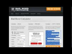 http://www.youtube.com/watch?v=LrQqcUvgTM0 Watch this instructional video on how to create your own free Bail Bond Calculator for your website.