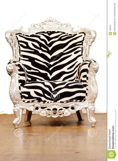 Photo about Zebra chair against white background. Image of armchair, decoration, pattern - 7289101 Funky Furniture, Home Decor Furniture, Furniture Styles, Animal Print Furniture, Zebra Chair, Zebra Decor, Love Chair, Chair Fabric, Take A Seat