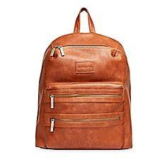 image of Honest City Backpack Diaper Bag in Cognac