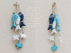 Mediterranean Starfish Hung Fish Nautical Decor hang small adorn Crafts Wood Fish / decorated marine pendant (6pcsfish+6pcsstar