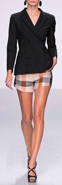Blazer shorts and platforms