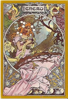 Inspired by Mucha: Gaspar Camps - Enero