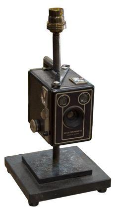 Boxy Brownie Camera Lamp