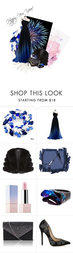 """""""Happy New Year"""" by anna-jarovaja-v on Polyvore featuring Harrods, Surratt, Sephora Collection, Pasionae, Jimmy Choo and Baccarat"""