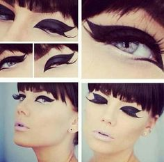 Pretty awesome mod eye makeup