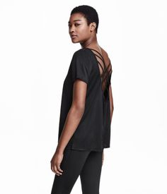 low-cut back with crossover straps sport top from h&m $17.99