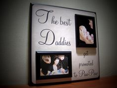 Custom Grandpa Picture Frame, Father, Dad, Daddy, Papa, Pawpaw, Appreciation, Christmas Gift. $70.00, via Etsy.