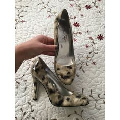FINAL PRICE‼️Jessica Simpson heels😍 Gorgeous Jessica Simpson heels! Leopard is a natural beige/sand color and matches almost everything! Heels are in very good condition with only a couple scratches to the back of the heel (as pictured) but unnoticeable when on.  🚫trades / PP ✔️bundle discount 🔵 use the blue button to make an offer! Jessica Simpson Shoes Heels