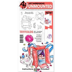 Art Impressions EVERYTHING WONDERFUL Mini Tryfolds Clear Stamps and Dies 4851 Preview Image