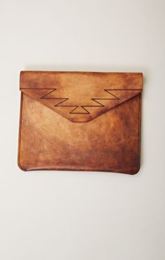 torchlight | leather clutch
