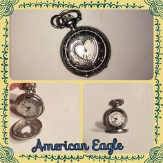 Clock locket pendant The clock no longer ticks but still a beautiful piece. Originally from American Eagle. This would go perfectly on a long, simple chain. American Eagle Outfitters Jewelry Necklaces